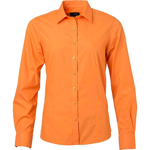Orange Longues JN677 Manches Femme Popeline Chemise JN Ux4qSz4