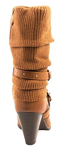 Elara - botas clásicas Mujer Beige Camel