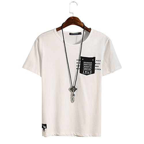 [XINXIKEJI]夏服 メンズ tシャツ 半袖 プリントTシャツ インナー ポケット ボーイズ 男の子 Tシャツ 大きいサイズ 修身 カジュアル シャツ ゴルフウェア 通勤 通学 運動 日常用 M-XXXL