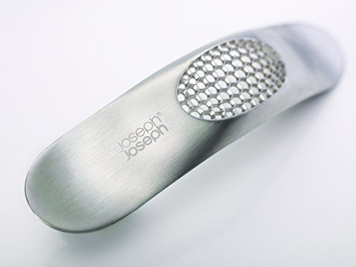 Joseph Joseph Garlic Rocker Crusher Mincer Press Dishwasher Safe, Stainless Steel