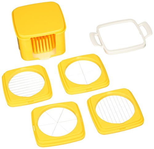 Norpo Yellow 5 Piece Egg Slicer Set with Storage - Case Slicer Egg