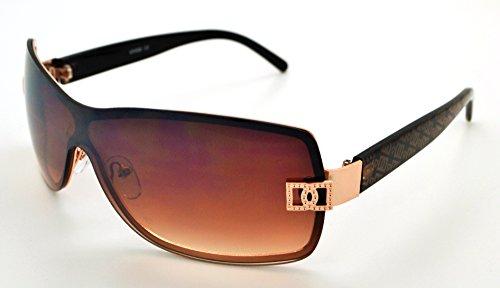 Vox tendance classique haute qualité pour femme Mode Hot Lunettes de soleil W/étui microfibre gratuit Brown Frame - Brown Lens