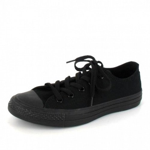 Converse Unisex Chuck Taylor All Star Low Top Black Monochrome Sneakers - 6 D(M) US by Converse