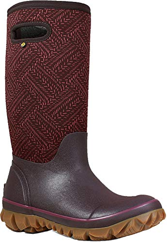 Bogs Womens Whitout Fleck Snow Boot, Grape, Size 11 ()