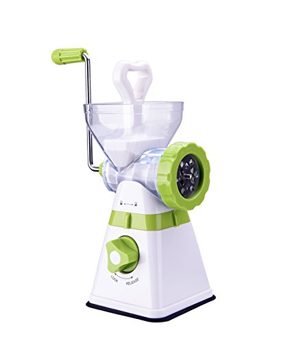 Switol Manual Food Grinder / Mincer, Sausage Stuffer, Quickly and Effortlessly Grind Meat, Vegetables, Garlic, Fruits with sausage Stainless Steel Blade and Reliable handle
