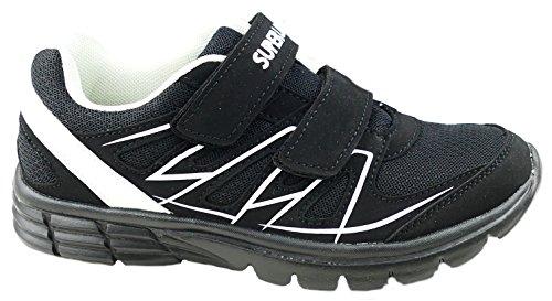 para de blanco negro mujer Material Zapatillas gibra Sintético F81q1I