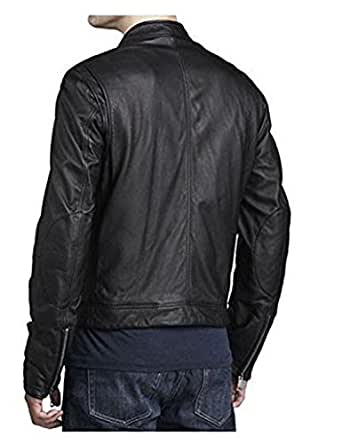 Black Friday Men Motorcycle Cow Leather Jacket Coat