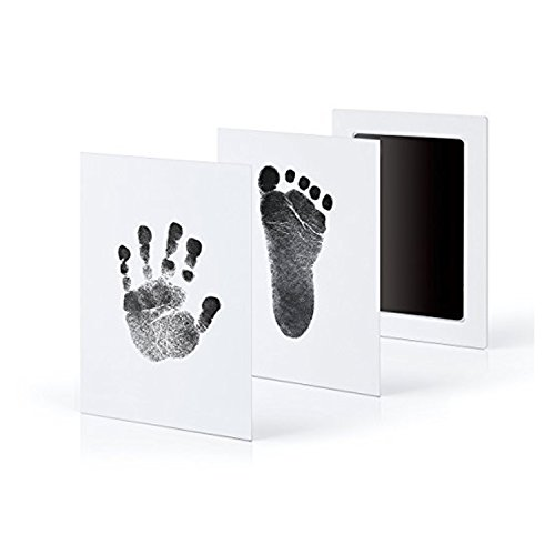 (2Pack/4Pack Handprint Footprint Ink Pads Without Ink-Touch Photo Frame Safe Print Kit for Baby and Pets 2/4 Large Ink Pads+ 4/8 Imprint Cards Perfect Gift for Newborn Baby Shower Registry (2))