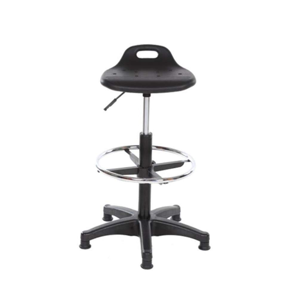 Black 36x32x80cm AGLZWY Height Adjustable Bar Stools High Chair Modern Fashion with High Backrest Footrest 360° Swivel Home Kitchen Island Family Dining (color   Black, Size   36x32x55cm)