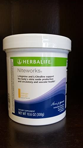 Herbalife Niteworks Powder Mix-orange-mango 10.6 Oz Size