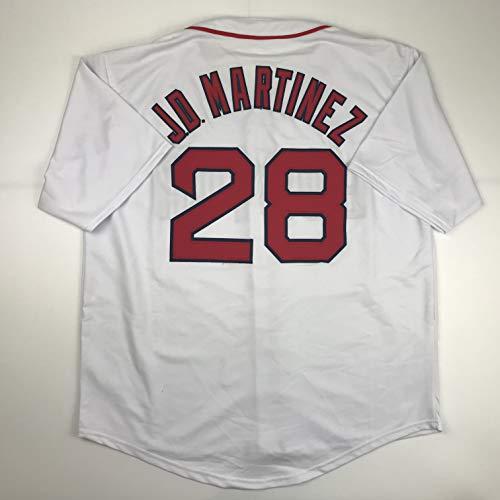 Unsigned JD J.D. Martinez Boston White Custom Stitched Baseball Jersey Size Men's XL New No Brands/Logos (Martinez Signed Jersey)