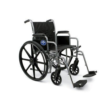 Medline K1 Wheelchair with Desk-Length Arms and Swing-Away F