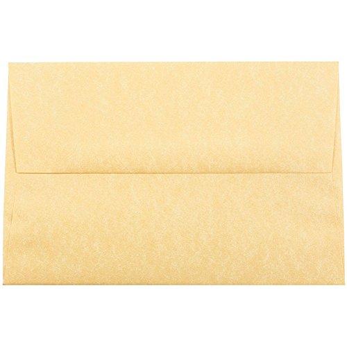 JAM PAPER A8 Parchment Invitation Envelopes - 5 1/2 x 8 1/8 - Antique Gold Recycled - Bulk - Antique Envelopes 250