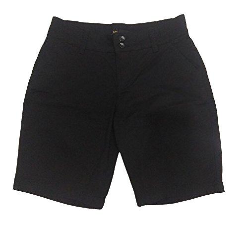 Tailored Chino - LEE Women's Straight Fit Tailored Chino Bermuda Short (10, Black)