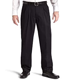 Lee Men's Big & Tall Stain Resistant Relaxed Fit Pleated Pant