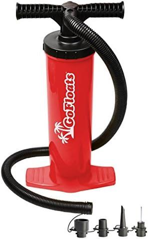 GoFloats Rapid Inflation Manual Air Pump (for Rafts Air Mattresses and Sports Balls)