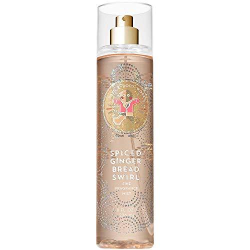 Ginger Body Spray - Bath & Body Works Spiced Gingerbread Swirl, Fine Fragrance Mist, 8 Ounce