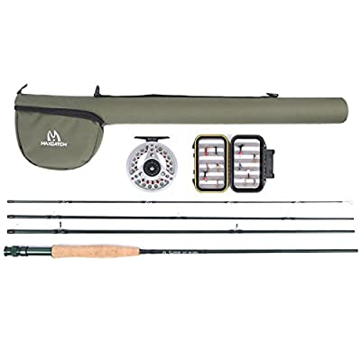 Maxcatch Extreme Fly Fishing Combo Kit 3/5/6/8 weight Fly Rod and Reel Outfit by Maxcatch
