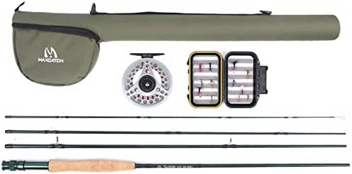 Maxcatch Explorer Fly Fishing Combo Kit 3/5/8 weight Fly Rod and Reel Outfit