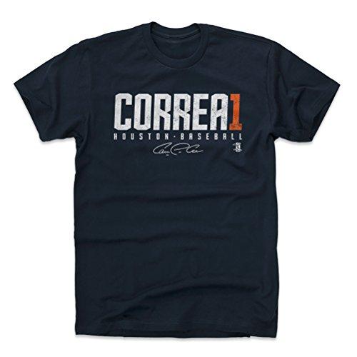 500 LEVEL Carlos Correa Cotton Shirt Large True Navy - Houston Baseball Men's Apparel - Carlos Correa Correa1 W WHT