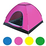 Famous Juggle 2-3 Person Camping Tent (Pink)