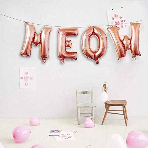 Meow Balloons Meow Birthday Theme Meow Party Rose Gold Cats Party Balloons Decorations