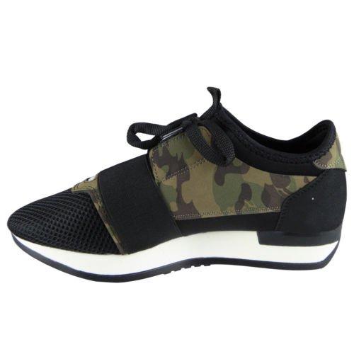 Damen Laufen Gym die Sportarten Spitze Oben Schuhe Größe 36-41 Camo