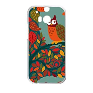 HTC One M8 Cell Phone Case White Blue Fall Animals GY9207028