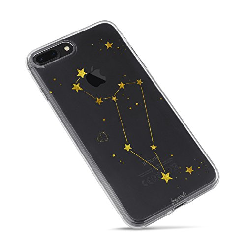 Compatible with iPhone 8 Plus,Girl Cute Zodiac Sign Girls Teens Cute Leo Funny Cute Starry Funny Moon Star Milky Way Leo Zodiac Clear Case Replacement for iPhone 7 Plus/iPhone 8 Plus (Best Compatible Zodiac Signs)