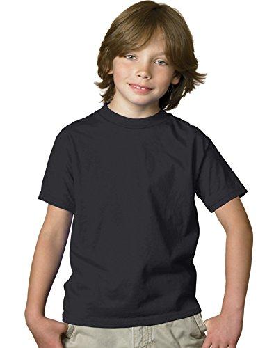 Hanes Boys' TAGLESS ComfortSoft Crewneck T-Shirt White L