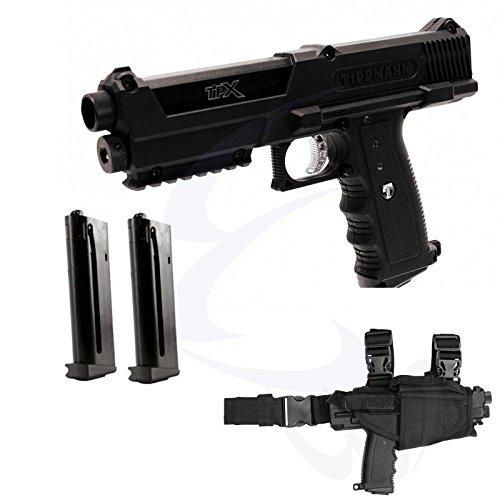 Tippmann TiPX Deluxe Paintball Pistol Kit Gun TPX 2 Mags Holster Hard (Tpx Pistol)