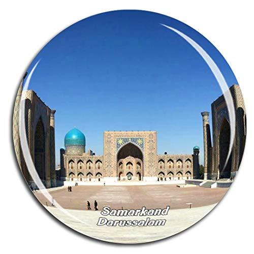(Registan Samarkand Uzbekistan Asia Fridge Magnet 3D Crystal Glass Tourist City Travel Souvenir Collection Gift Strong Refrigerator Sticker)