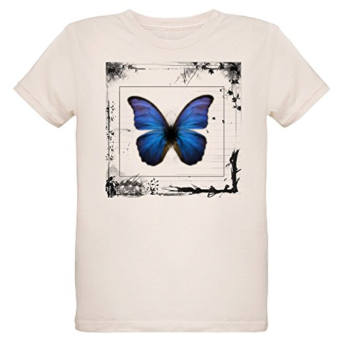 - Royal Lion Organic Kids T-Shirt Blue Butterfly Still Life - Small (8 Yrs)