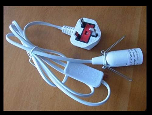 Sal Lámpara Cable E14 Enchufe Portalámparas, interruptor, Selenita ...
