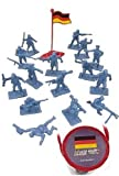 detailed toy soldiers - WWII German Infantry with Flag World at War Toy Soldiers Series Plastic Army Men Figures 1/32 Scale 17 Pieces with Reusable Tube Storage