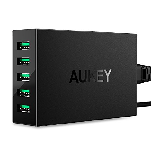 AUKEY 5-Port USB Charger with 50W / 10A Output ...