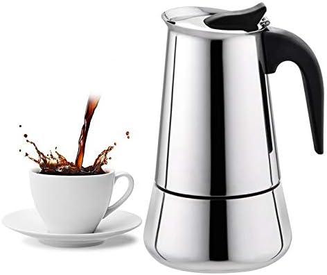Fditt - Cafetera italiana (100 ml, acero inoxidable): Amazon.es: Hogar