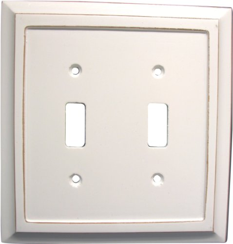 AmerTac 4040TTDW 2 Toggle Savannah Wood Wallplate, Distressed - Outlet Savannah