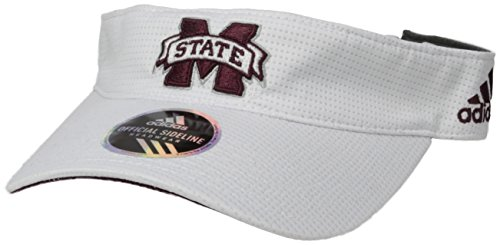 adidas NCAA Mississippi State Bulldogs Adult Men Spring Game Visor, One Size, (Bulldogs Ncaa Spring)