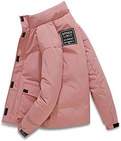 Urft Slimming Short Winter Coat Men's Standing Collar Winter Jacket,Black, Yellow, Pink