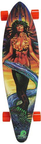 Palisades Longboards Sea Angel Complete Skateboard, 9.25 x 36-Inch