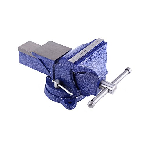 5'' / 6'' Industrial Grade Bench Vise, Blue Cast Iron Heavy Duty Vise Clamp Milling Metalworking Vice Tool (6 inich) by Walfront