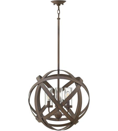 Outdoor Pendant 3 Light Fixtures with Vintage Iron Finish Metal Material Candelabra 19