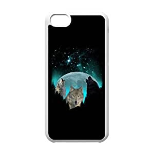 Wolves Twilight Harvest Moon iphone 5C Cell Phone Case White Phone Accessories JV181190
