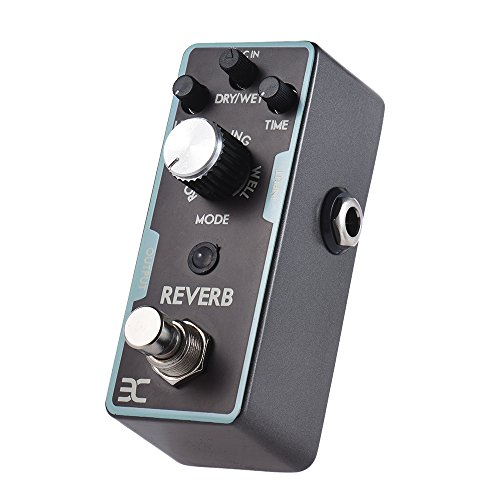 EX Digital Reverb Pedal Mini Reverb Guitar Pedals 3 Modes Spring Room Well With Different LED Color Indicating The Mode ()