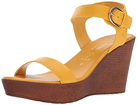 Italian Shoemakers Women's 5688S7 Sandal, Mustard, 9 M US - Italian Mustard