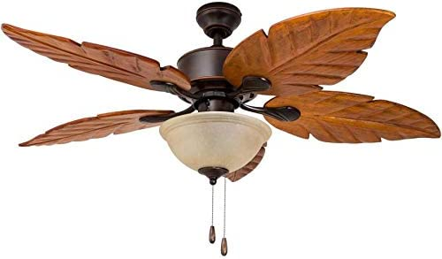 Harbor Breeze St Kitts 52 In Oil Rubbed Bronze Indoor Outdoor Downrod Mount Ceiling Fan With Light Kit Pricepulse