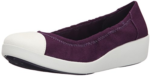 Flat Fitflop Pomp Purple Women's Ballet F Ballerina Canvas Pop n0wYT0rO8