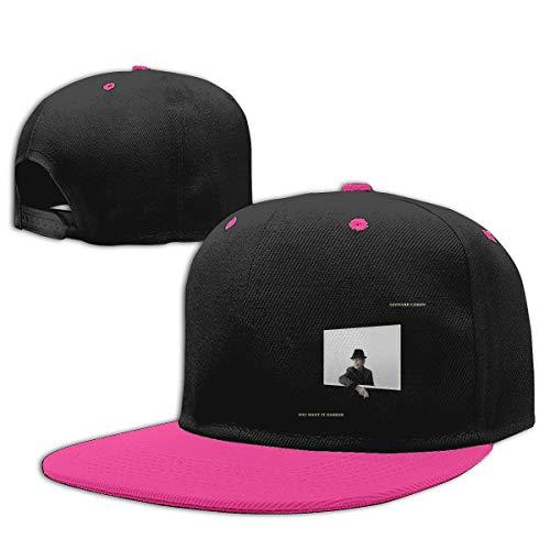 LEILEer Leonard Cohen You Want It Darker Unisex Contrast Hip Hop Baseball Cap Pink