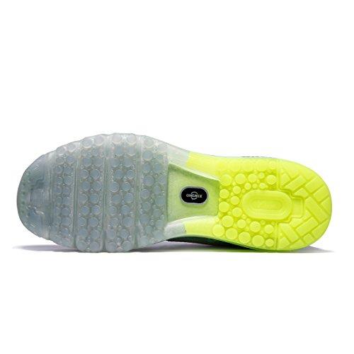 Onemix Mannen Loopschoenen Luchtkussen Luchtkussen Loopschoenen Tennisschoenen Straat Loopschoenen Sneakers Sportschoenen Grijs